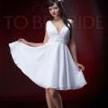 Короткие свадебные платья для смелых невест /
