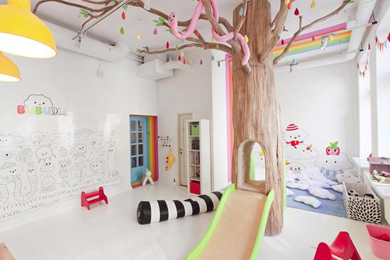 Детская комната в ресторане Biblioteka /  Мама /