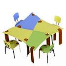 Synthesis Desk: Оригинальные школьные парты /  Мама /