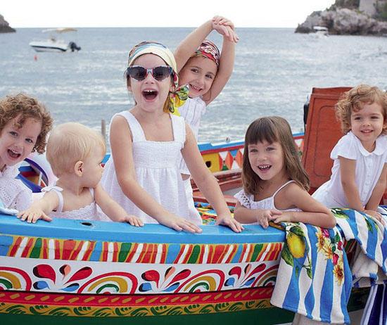 Весенне-летняя детская коллекция 2013 года от Dolce Gabbana /  Мама /