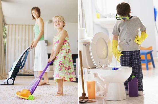 10 способов привлечь ребенка к домашней работе /  Мама /